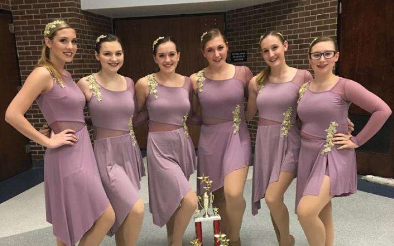 The Concordia High School Dance Squad competed in the Miss Kansas Dance Competition in Olathe. Dance squad members, from left, are Madelyn Meyer, Katie Trecek, Bethany Craig, Allison Poore, Kiara Kilian and Samantha Terrill.